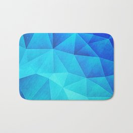 Abstract Polygon Multi Color Cubizm Painting in ice blue Bath Mat