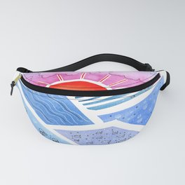 Abstract Seascape with Sunrise Fanny Pack