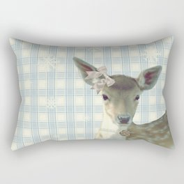 SNOW FAWN & BOW Rectangular Pillow