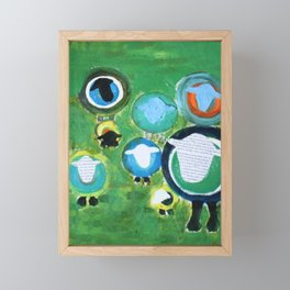 The Woolly Crew Framed Mini Art Print