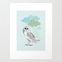 Singing in the rain Art Print
