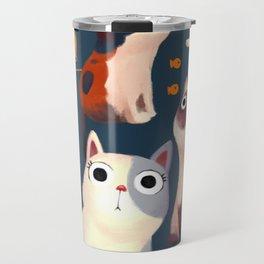 Cat Print Travel Mug