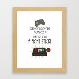 Try out an Arcade stick! Framed Art Print
