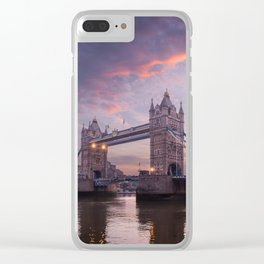Tower Bridge sunset, London Clear iPhone Case
