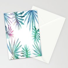 Watercolor botanical leaves Stationery Cards
