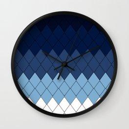 Blue rhombs Wall Clock