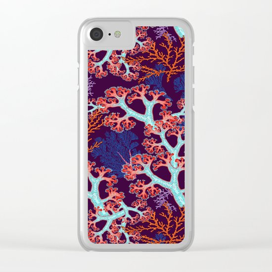 coral dream Clear iPhone Case