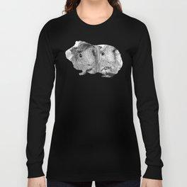guinea pig couple vector art black white Long Sleeve T-shirt