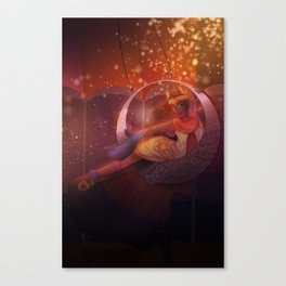 Daeris and the Moon Canvas Print