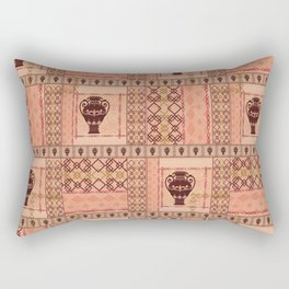 Ethnic pattern with an amphora, ornament, beige background. Rectangular Pillow