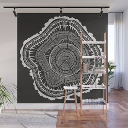 Growth Rings – 65 Years – Black Wall Mural