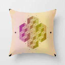 Cubic Totems Throw Pillow