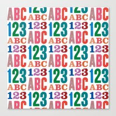 ABC 123 Canvas Print