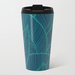 Blue Green Leaves Travel Mug