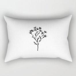 Wild Carrot Wildflower Rectangular Pillow