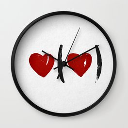 I Carry Your Heart with Me (I Carry It in My Heart) Wall Clock
