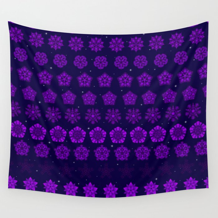 Amethyst in the Sparkling Sea Wall Tapestry