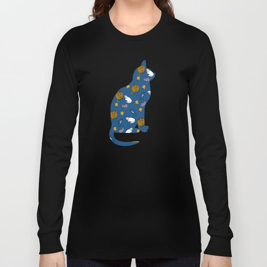 Mouse and Cat and Cheese Long Sleeve T-shirt