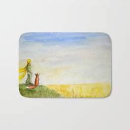 Little Prince, Fox and Wheat Fields Bath Mat