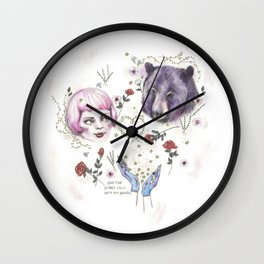The Stars Fell Into My Hands Wall Clock