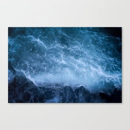 Waves from above Canvas Print