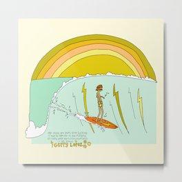 surf legend gerry lopez lightning bolt retro surf art by surfy birdy Metal Print