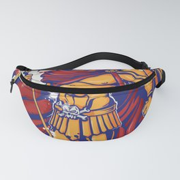 An illustration of a warrior character or sports mascot Fanny Pack