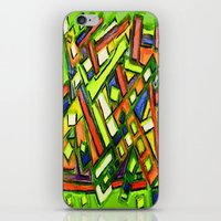 oakland iPhone & iPod Skins featuring Uptown Oakland by Octavious Sage