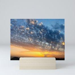 Sunset and clouds Mini Art Print