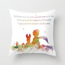 Little Prince Fox Throw Pillow