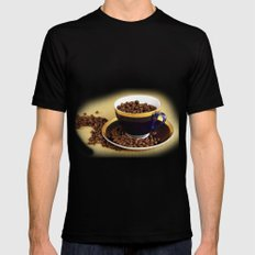 Blue coffee cup kitchen image Mens Fitted Tee Black MEDIUM