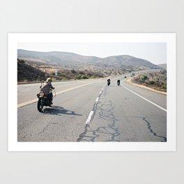 2 Wheel Roadtrip - Choppers on the Run Art Print