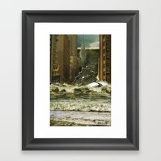 Water vs City Framed Art Print