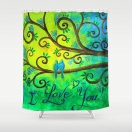 I Love You Hearts by Jan Marvin Shower Curtain