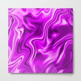 Liquid Metallic Pink Metal Print