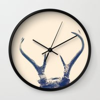 antlers Wall Clocks featuring Antlers by F2images