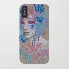 I Can't Sleep iPhone X Slim Case