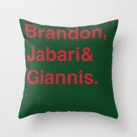 milwaukee Throw Pillows featuring Milwaukee Bucks by Will Wild