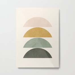 Minimal Geometric 51 Metal Print