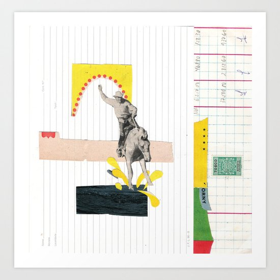 Horse Rider Art Print