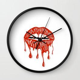 When Lipstick Melts Away Wall Clock