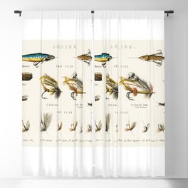 Salmon, Trout & Fresh Water Angling Fish Flies and Bait chart Blackout Curtain