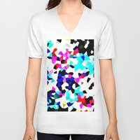 glass V-neck T-shirts featuring glass by graciela vasquez