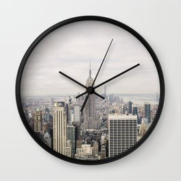 Empire State Building New York City, USA - Travel Photography fine art wall print Wall Clock