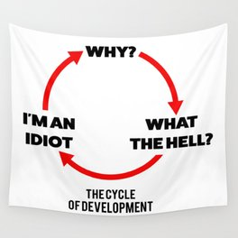 Cycle of development Wall Tapestry