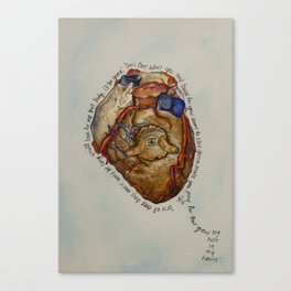 Hole in my Heart Canvas Print