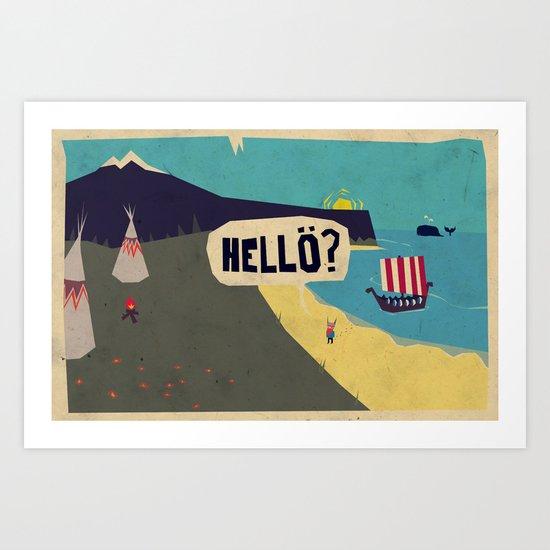 Hello? Art Print