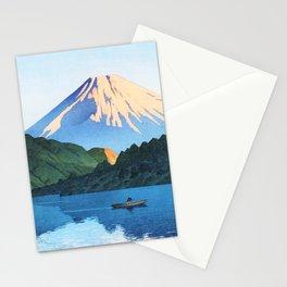 12,000pixel-500dpi - Kawase Hasui - Hakone, Ashino Lake - Digital Remastered Edition Stationery Cards
