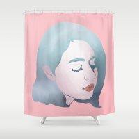 bubblegum Shower Curtains featuring bubblegum by otakuspirit