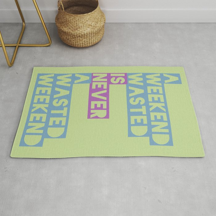 A Weekend Wasted (Colour) Rug